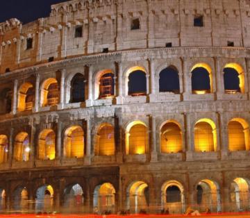 Rome Italy Go night